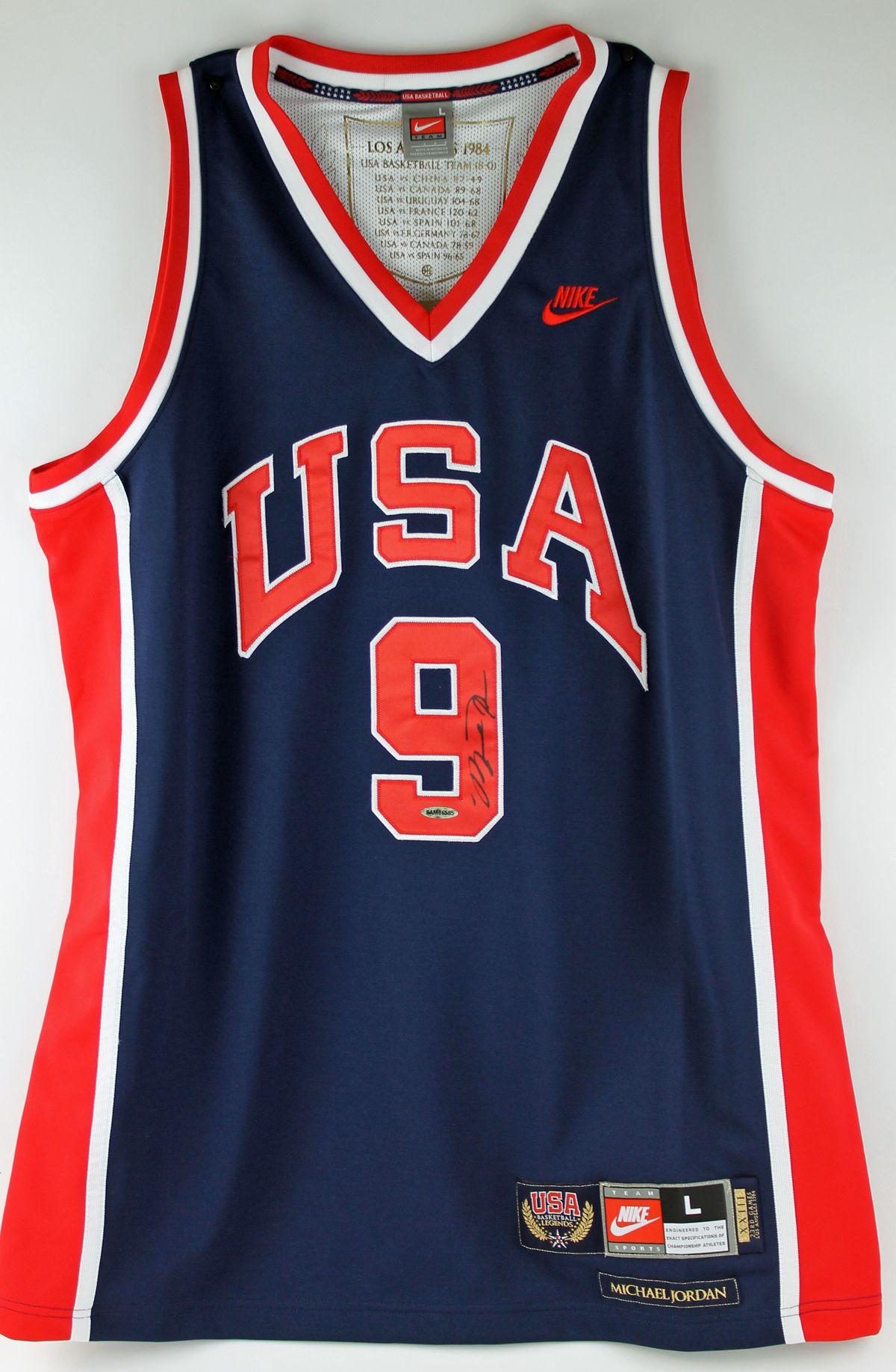 Fancy Michael Jordan Autographed USA Basketball Jersey