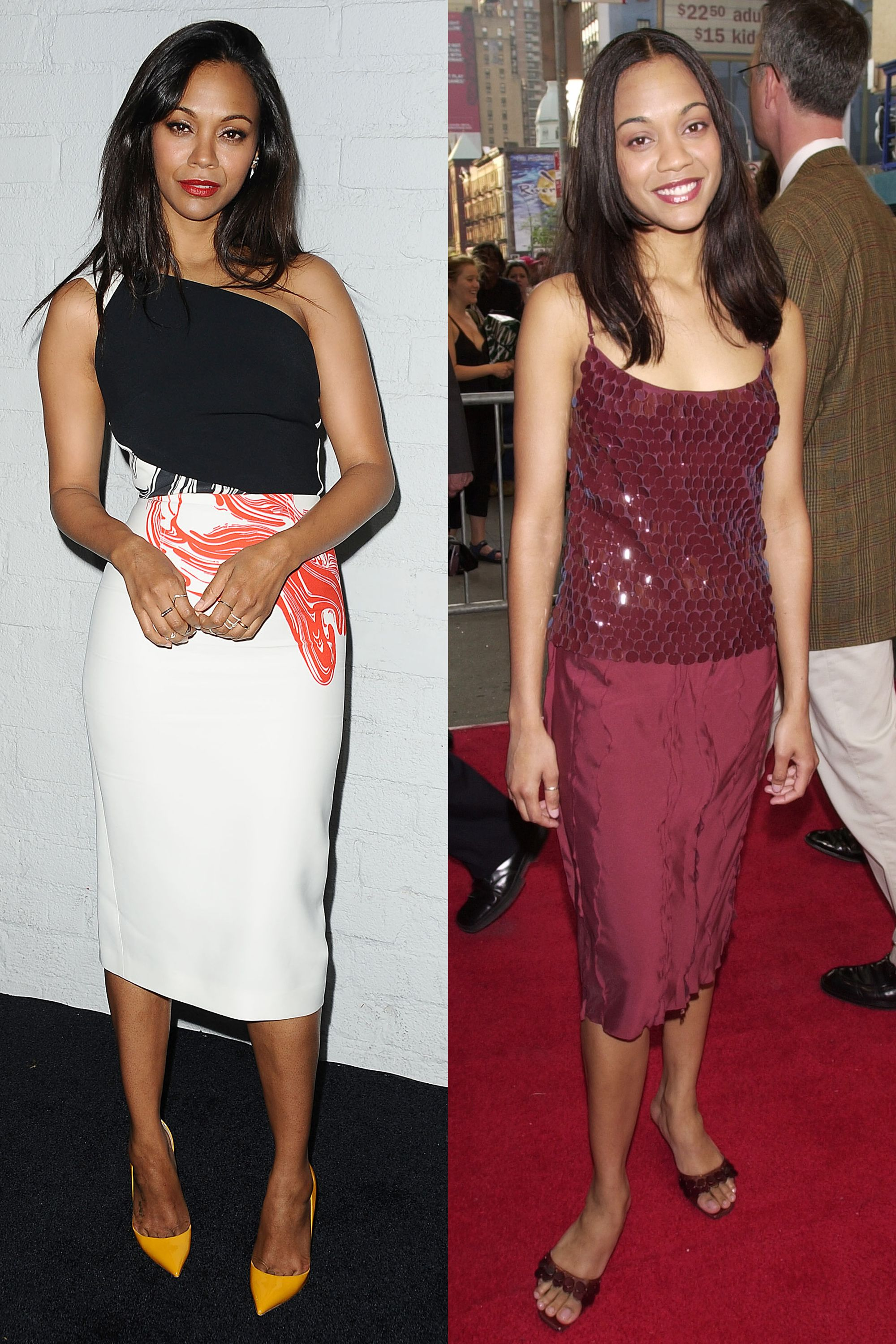 now and then: 45 celebrities' first red carpet moments | red