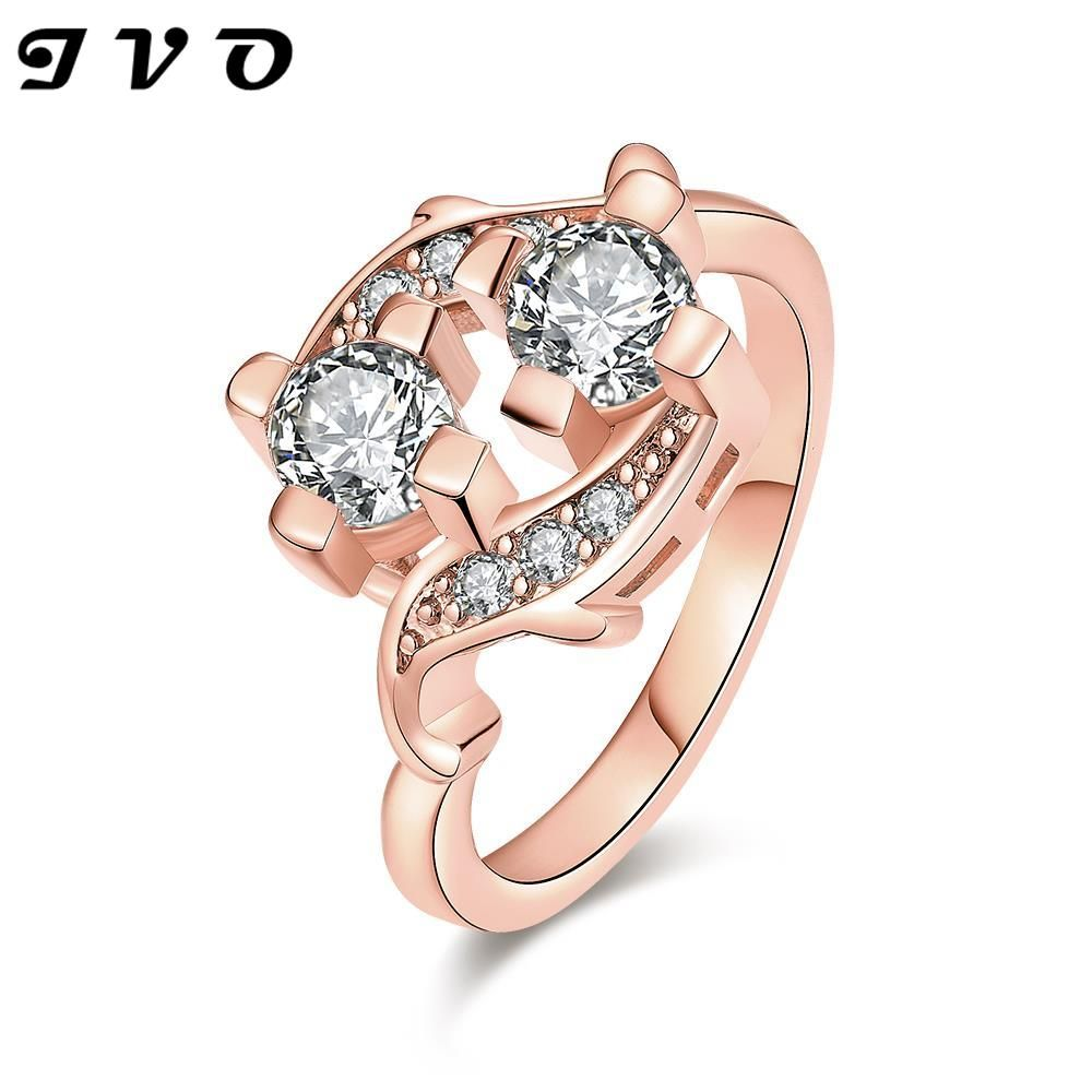 New 2015 Exquisite Rose Gold color Multilayer AAA+ Cubic Zircon ...