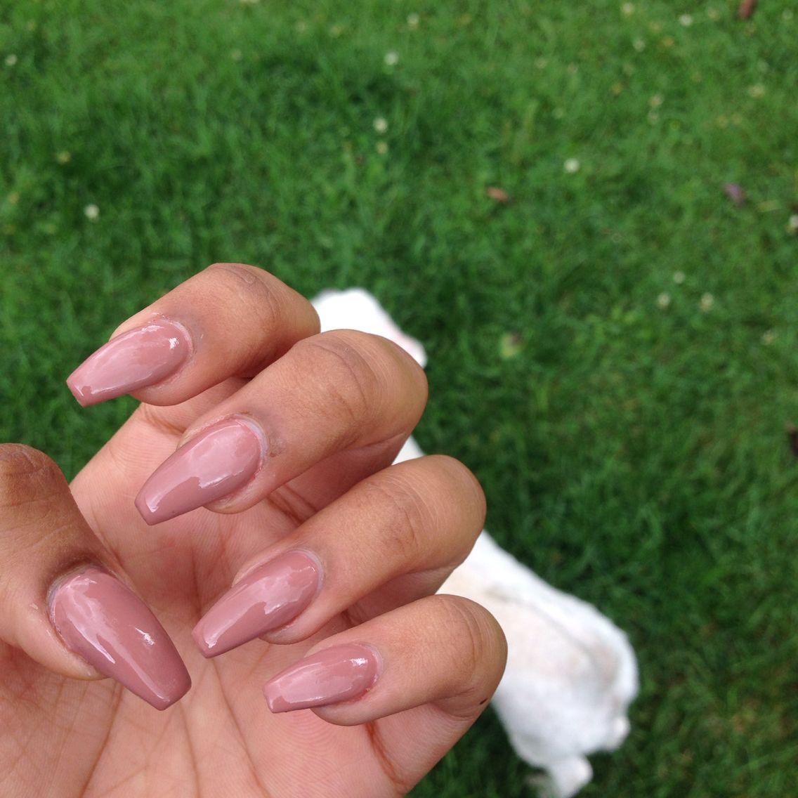 Neutral Coffin Nails | Ballerina Nails | OPI | Acrylic | Hair and ...