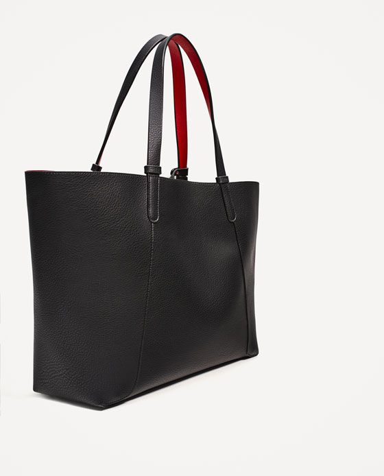 TOTE BAG REVERSIBLE AW17 ZARA COLLECTION qBtf66