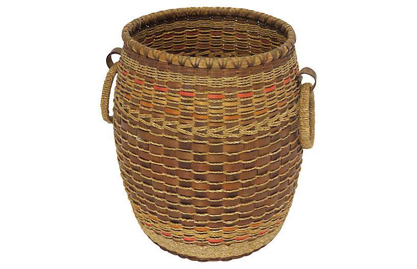 3695ab374ac Maine Micmac Indian Basket - Rose Victoria