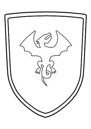Ritterschild Malvorlage zum Ausdrucken (Wappenschild) ▷ kostenlos