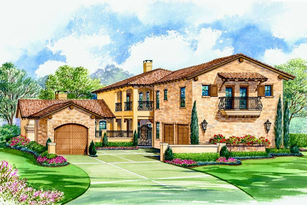 Spacious Courtyard House Plan 36144TX