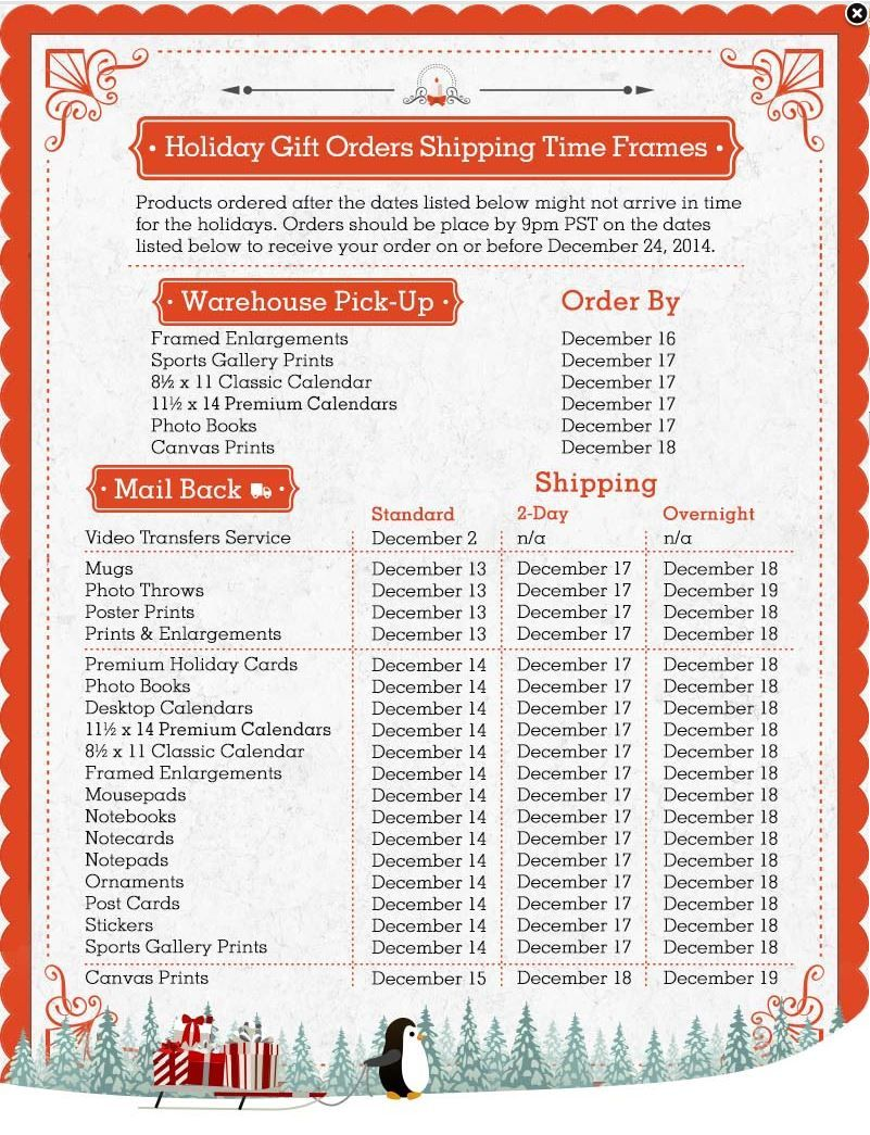 Costco Photo Center Christmas delivery deadlines | Holidays ...