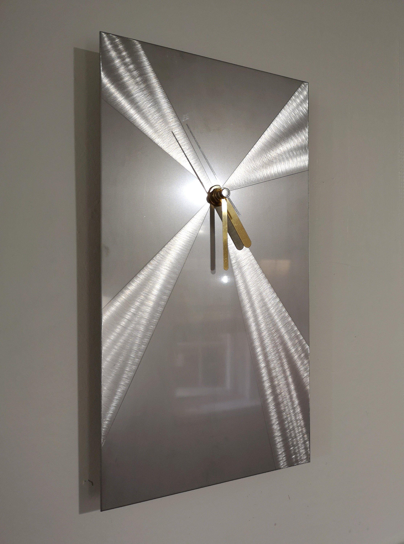 Stainless Steel Modern Art Metal Wall Clock By Christopher Henderson Modern Home Decor Hand Made In Uk Abstract Metal Art 009cv1 Metal Wall Clock Wall Stylish Wall Art