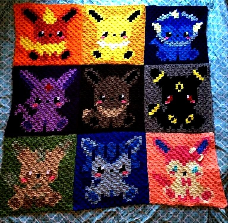Quilt made by April Roberts -Eeveelution Quilt made by April Roberts -  Chart Only - ANIMAL BUNDLE