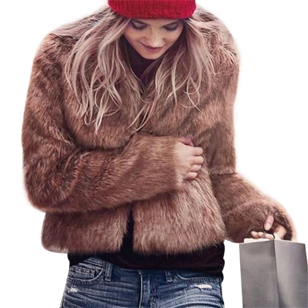 b033ae2186186 2018 Winter Women Plus Size Faux Fur Coat Long Slim Thicken Warm Hairy  Jacket Women Fashion ...