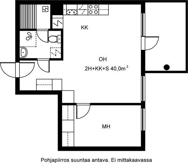 Kaivonkatsojantie, Vuosaari, Helsinki, 2h+kk+s 40 m², SATO vuokra-asunto