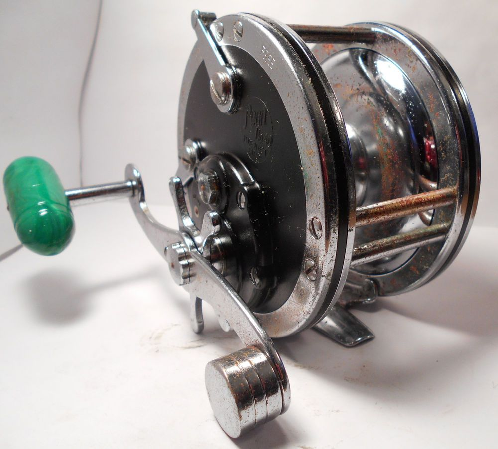 Vintage penn reels no 49 deep sea reel conventional for Antique fishing reels