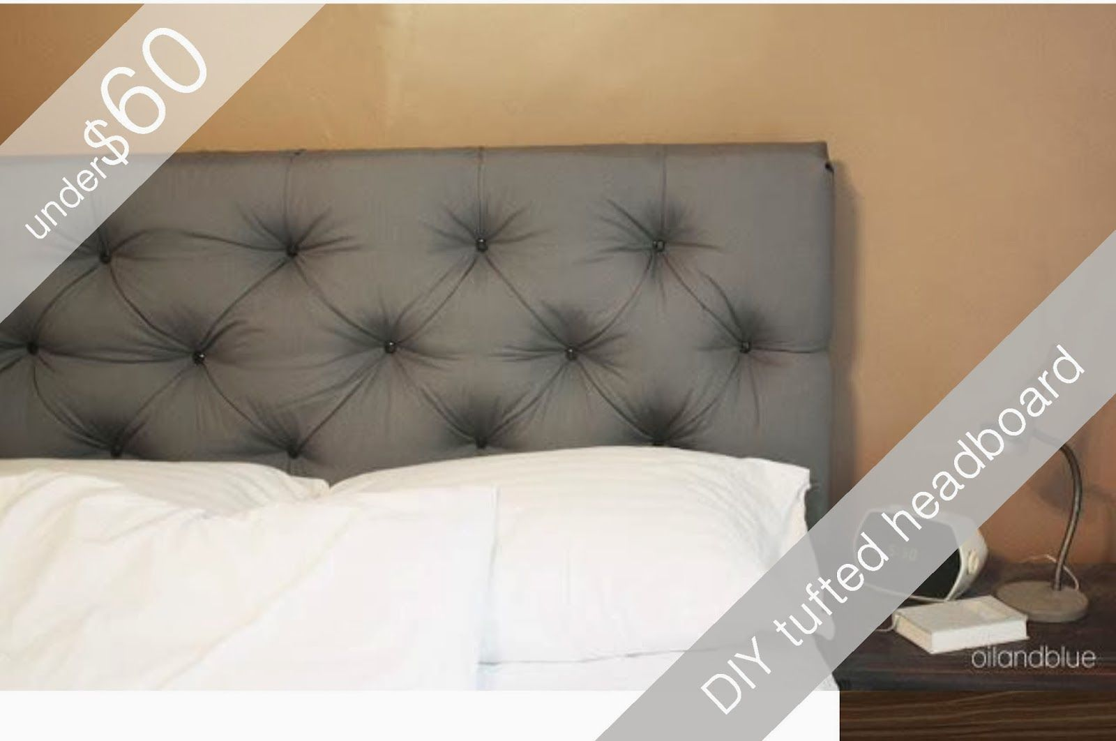 Oil And Blue Queen Size Tufted Headboard For Under 60 Diy