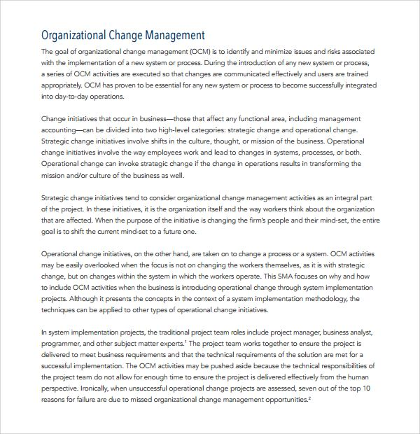10+ Change Management Plan Templates | Word, Excel & PDF Templates ...
