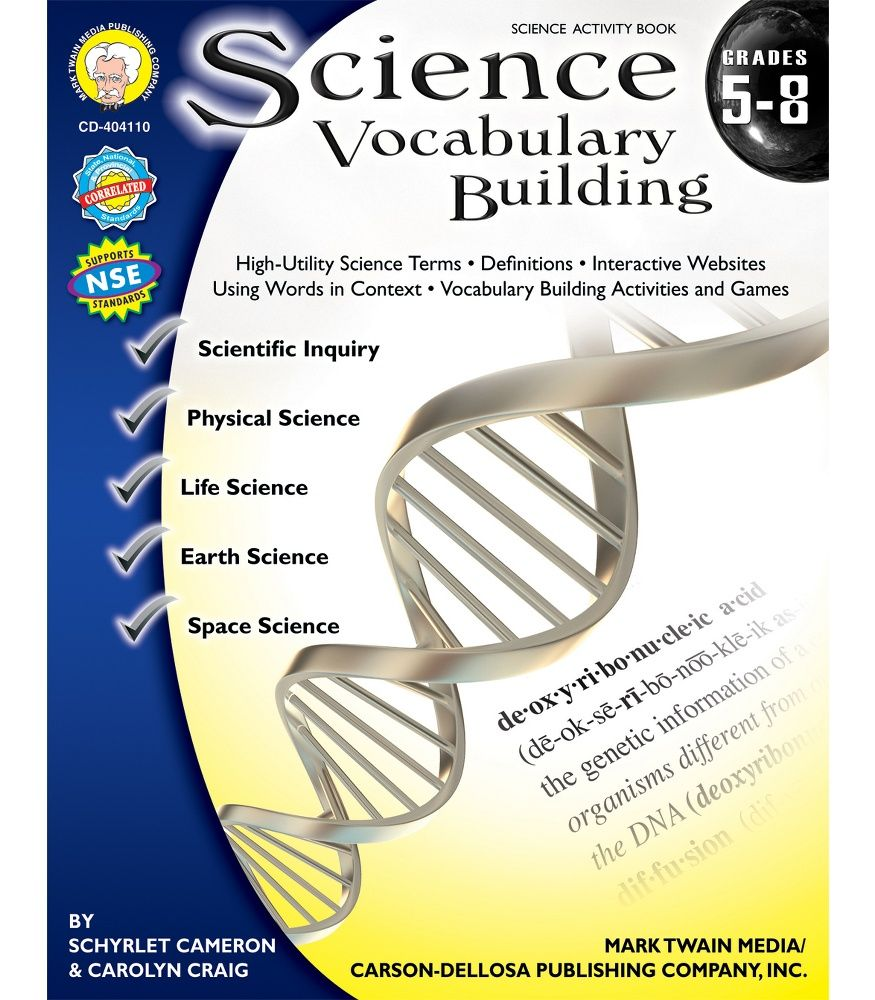 Science Vocabulary Building Resource Book Workbooks & Teacher