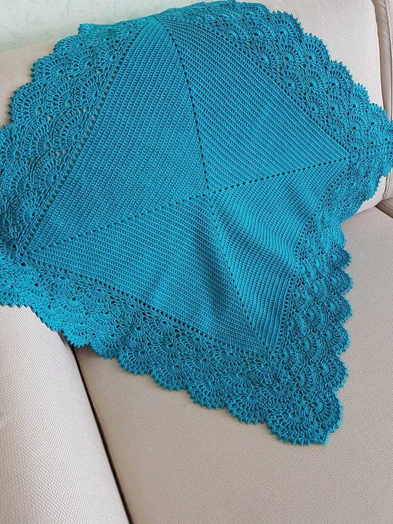 Photo of Crochet Baby Blanket, Baby Girl Blanket, Baby Boy Blanket, Lace Baby Blanket, Cotton Baby Blanket, Shower Gifts, Photo Prop