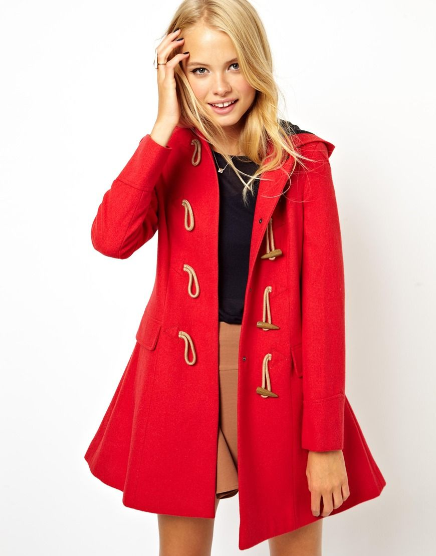 ASOS Hooded Duffle Coat | WHAT TO WEAR — fashion, outfit, street ...