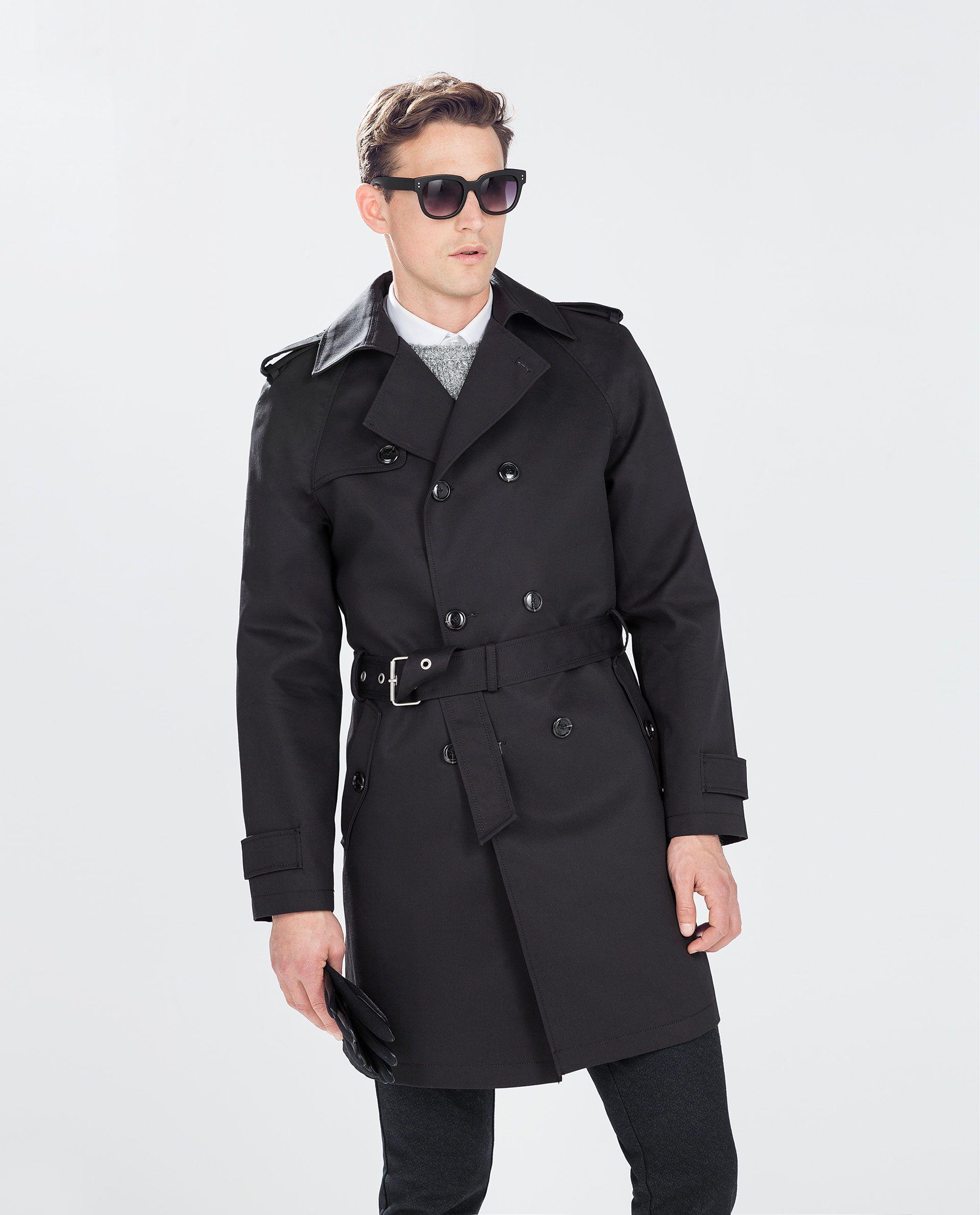 a03ae1f4 OVERSIZED TRENCH COAT - Coats and Trench coats - MAN | ZARA Turkey ...