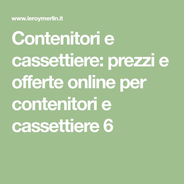 Leroy Merlin Contenitori Di Plastica.Contenitori E Cassettiere Prezzi E Offerte Online Per Contenitori