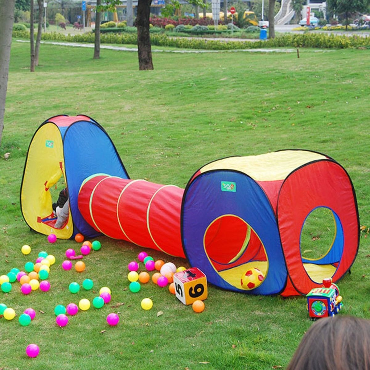 Ball Pit Kids Tent Playhouse with Tunnel Toddler Toys Children Ocean Play House  sc 1 st  Pinterest & Ball Pit Kids Tent Playhouse with Tunnel Toddler Toys Children ...