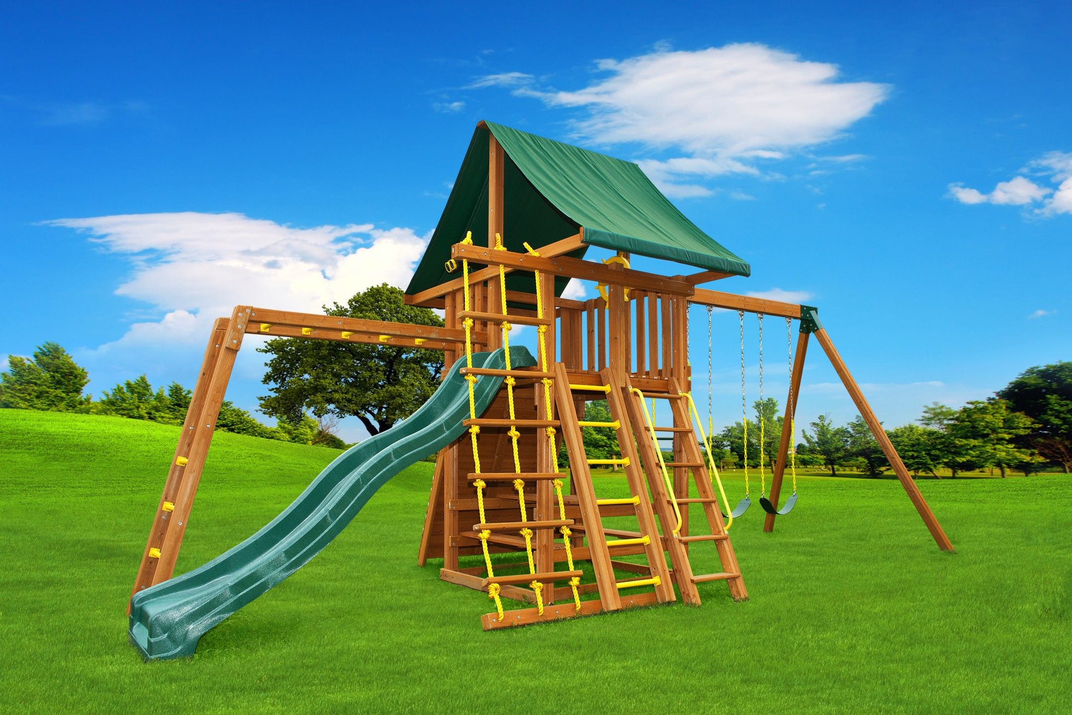 Dream 3 Wood Swing Set