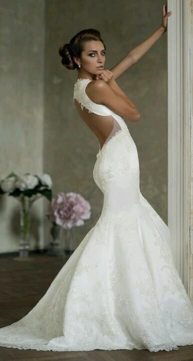 Vestido de novia espalda descubierta   My dream! !!   Pinterest ...