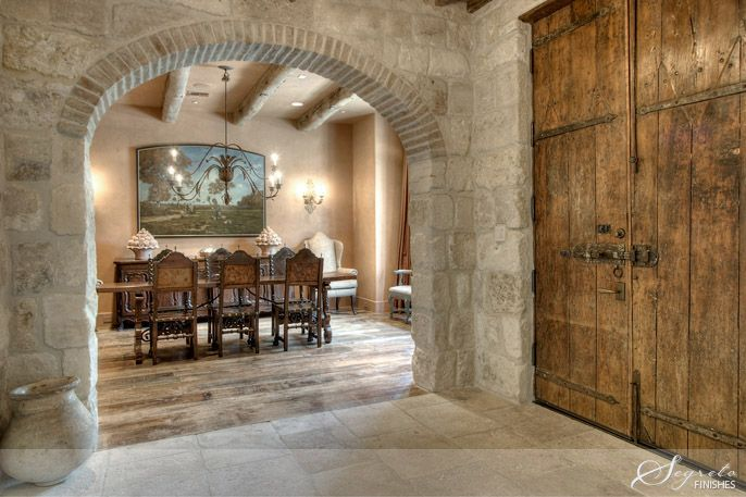 Dining Room Plaster Walls, And Beautiful Stone Wall