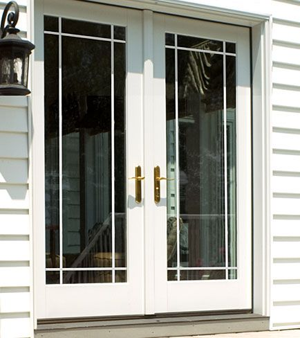 Need new patio doors  thinking this may be a good option  Energy efficient  too  Tired of feeling the drafts from the old ones ODL Clear door glass   Grilles between glass  prairie style grille  . New Style Patio Doors. Home Design Ideas