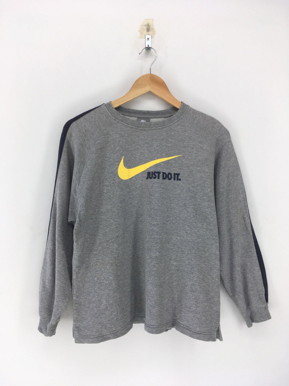 Nike Swoosh Pullover Sweater Medium Vintage 90 S Nike Etsy Vintage Nike Sweatshirt Sweatshirts Women Adidas Crop Sweater [ 3000 x 2250 Pixel ]