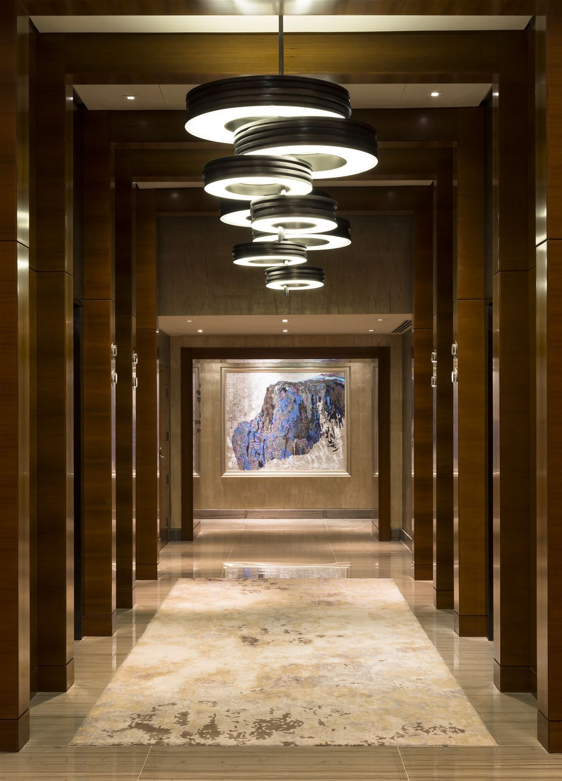 PRECIOSA Lighting Illuminated The Lobby With Circular