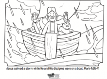 Jesus Calms The Storm Coloring Page Whats In The Bible Goodies - Jesus-calm-the-storm-coloring-page