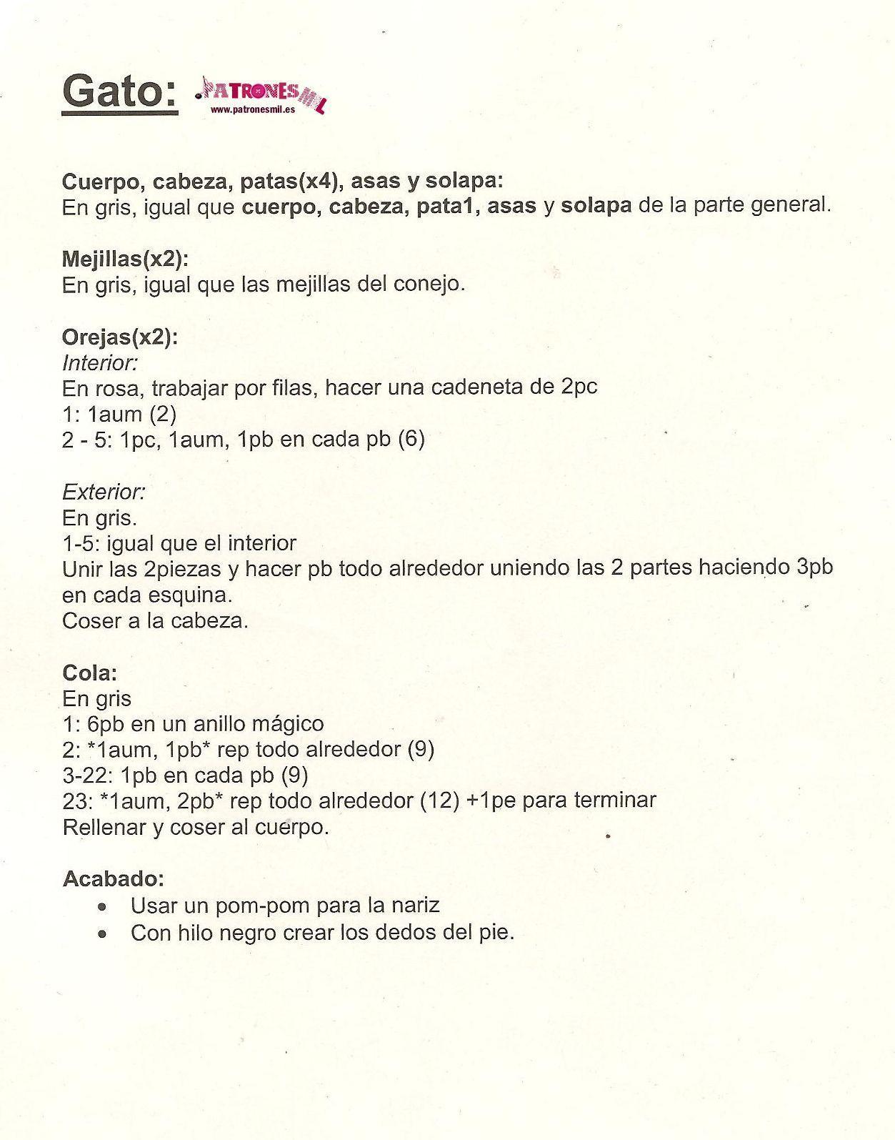 Bolso Gato a crochet   Patrón libre   Pinterest   Gato, Bolsos y ...
