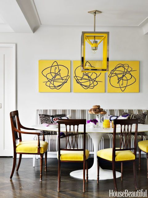 Colorful Gray Dining Room Walls Ensign - Wall Art Collections ...