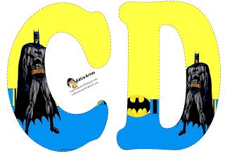 Alfabeto de batman en fondo amarillo y azul clipart - Murcielago para imprimir ...