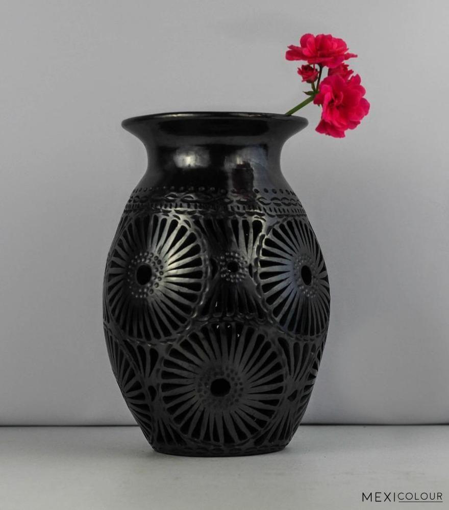 Oaxaca barro negro black clay pottery flower vase luminary oaxaca barro negro black clay pottery flower vase luminary decoration doa rosa donarosa southwestern reviewsmspy