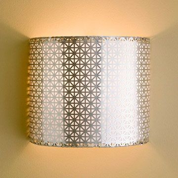 Bright ideas for light fixtures wire lampshade aluminum radiator wire lampshade cut a wire lampshade frame in half and crimp aluminum radiator grille around the frame line the grille with opaque art paper to diffuse the greentooth Gallery