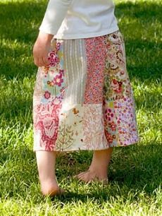 Tutorial Pretty Patchwork Culottes For Little Girls