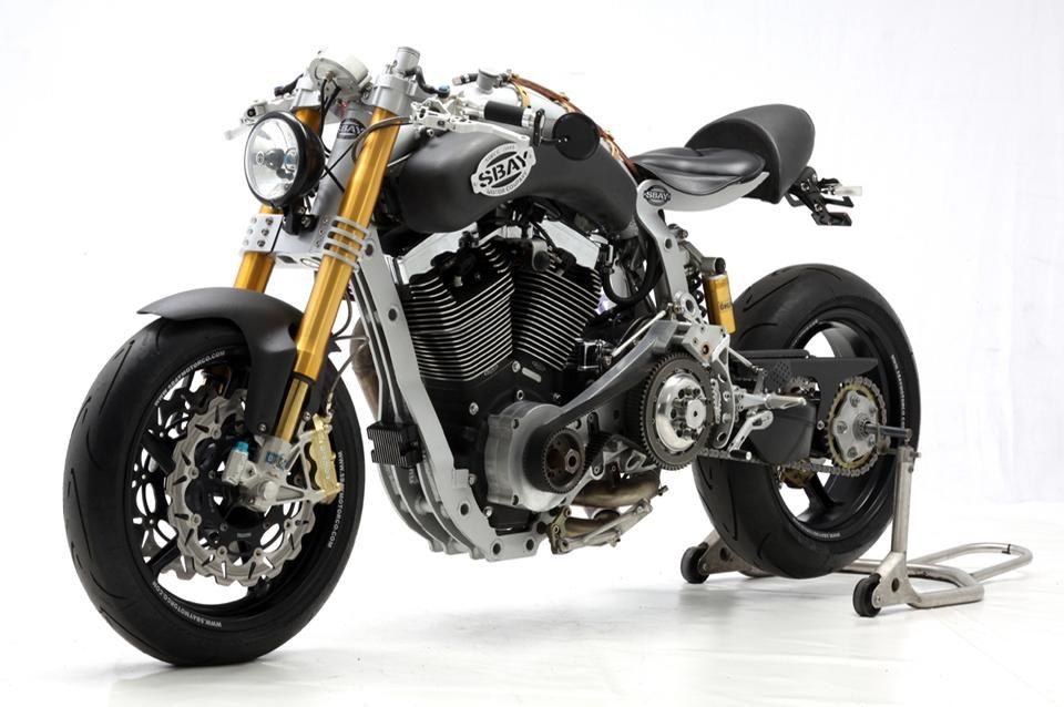 Modern Cafe Racer With Custom Aftermarket Harley Davidson Motor By Sbay Co