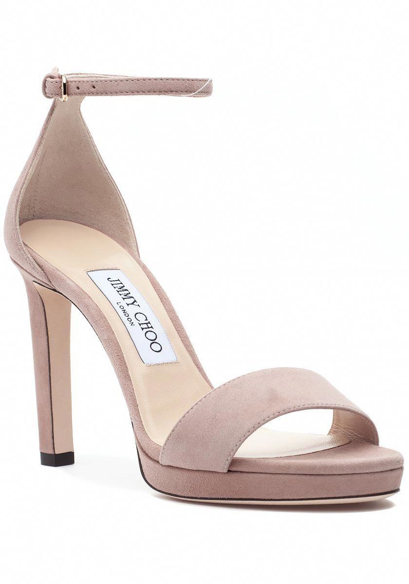 1195675dc9ca Jimmy Choo  725 Misty Sandal Pink Suede - Jildor Shoes  JimmyChooHeels