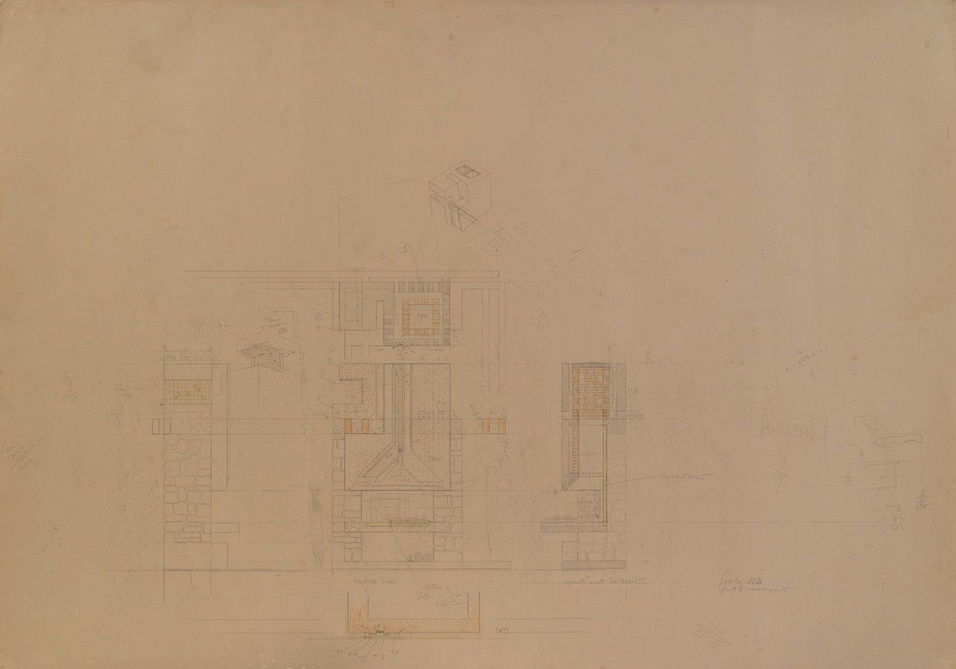 Unseen drawings of Carlo Scarpa's Villa Ottolenghi in 2020