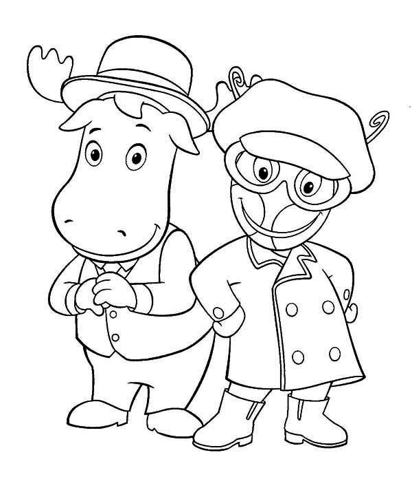 Tyrone And Uniqua From The Backyardigans Coloring Page Kids Play Color In 2020 Coloring Pages Animal Coloring Pages Pattern Coloring Pages