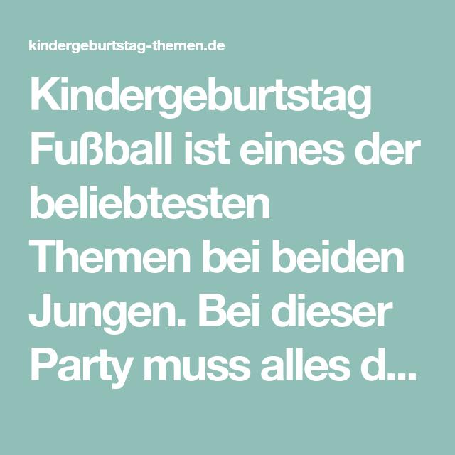 Kindergeburtstag Fussball Tipps Und Ideen Halloween