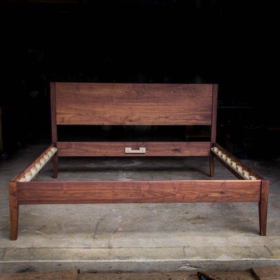 Best Goldilocks Walnut Bed Mid Century Modern Solid Walnut 400 x 300