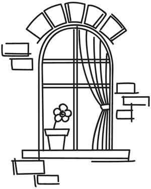 Window Stencil003 Dibujos Para Bordar Patrones De Bordado Y