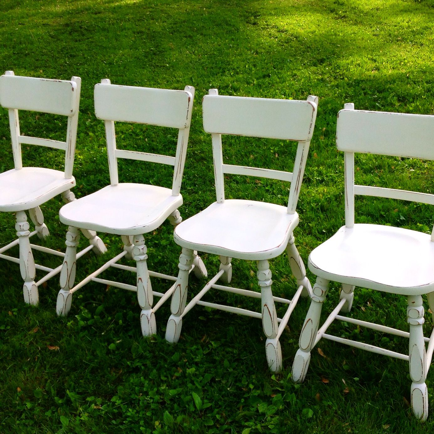 Farm house chairs finished in sherwin williams antique