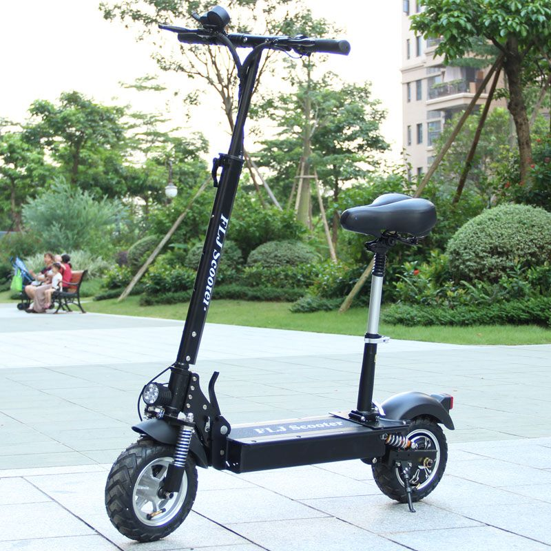 Flj 1200w 500w Electric Scooter For Adult With Seat Foldable Kick