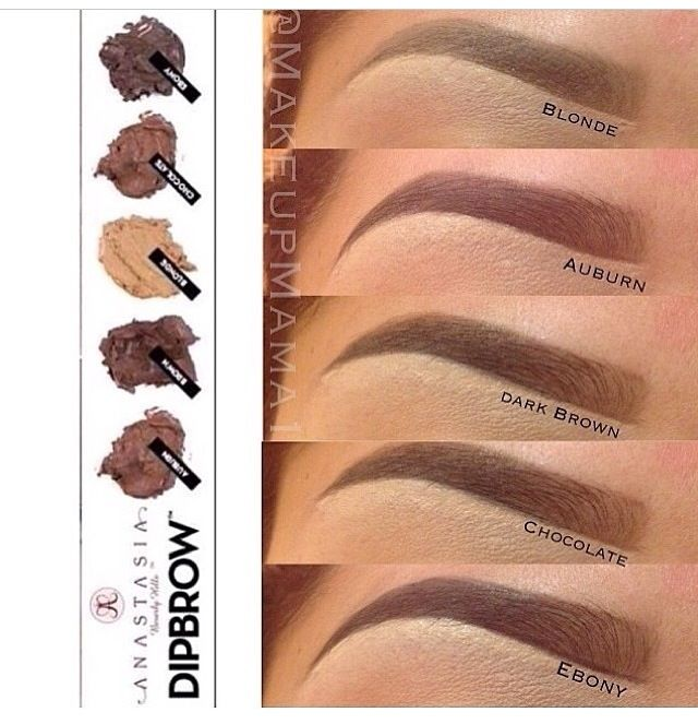 Colores para cejas diseño de cejas maquillaje Pinterest - Tipos De Cejas