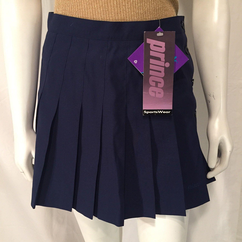 Deadstock Prince Sportswear Navy Blue Pleated Tennis Skirt Etsy Pleated Tennis Skirt Tennis Skirt Vintage Skirt