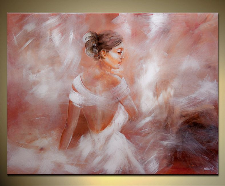 Original Figurative Abstract Of A Woman Dancing Large Painting On Canvas Osnat