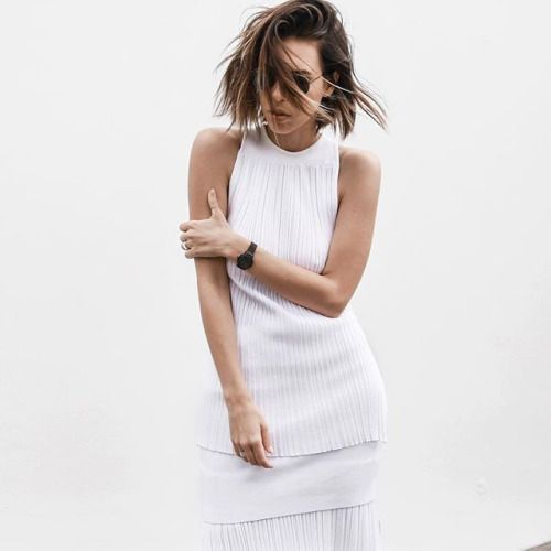 White Simplicity - layered white dress; chic style inspiration