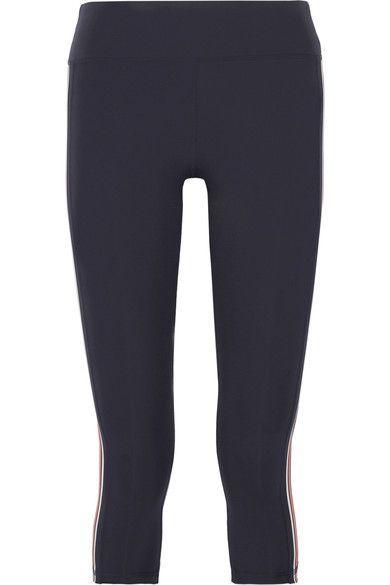778992df06127 TORY SPORT Cropped Striped Stretch-Tactel® Leggings. #torysport #cloth #gym  and cross train