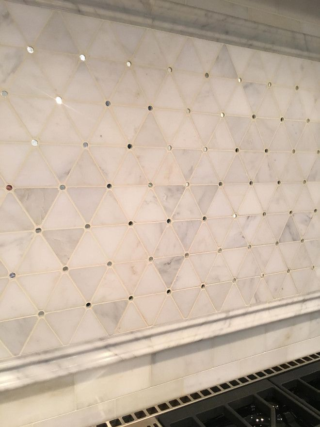 Backsplash Tile Above Range The Honed Mosaic Pattern Has Circle Mirror